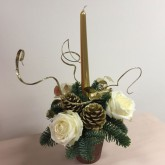 Festive Gold Candle Arrangement