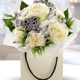 Ice White Rose Hand Tied