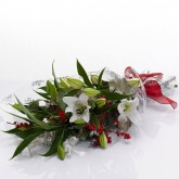 Gift Wrapped Lillies with Berries