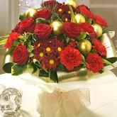 Vintage Bouquet with Red Roses